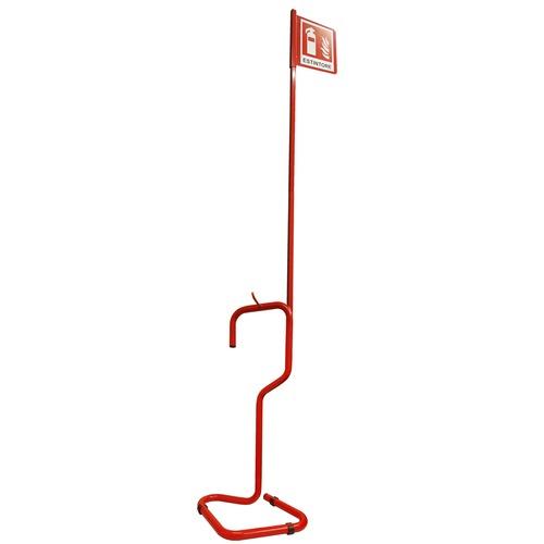 Piantana Porta Estintore.Piantana Porta Estintore Asta Cartello Rosso